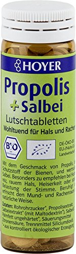 15 x Hoyer Propolis Salbei Lutschtabletten BIO 60 Tabletten 30 g