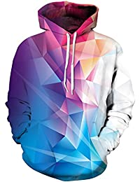 TDOLAH Homme Sweats à Capuche Pull Unisex 3D Prints Hoodie Sweatshirt Patterned Multicolore