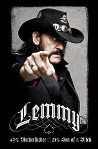 1art1 48415 Lemmy Kilmister - 49% Mofo Poster 91 x 61 cm