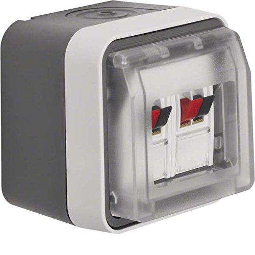 Berker Lautsprecherdose 11963515 Stereo lichtgrau W.1 Einsatz/Abdeckung für Kommunikationstechnik 4011334404637 W1 Stereo