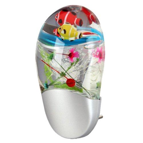 Trango® Kinder LED Farbwechsel Nachtlicht mit Nemo Fische Helligkeitssensor Auto AN/AUS