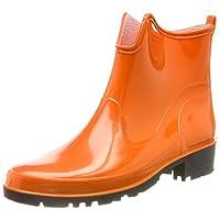 Lemigo Womens Ankle Rubber Wellington Boots Elke 930 (Orange, EU 38 = UK 5)