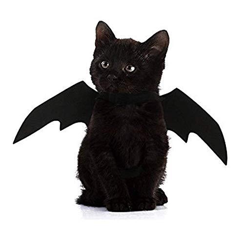 Kostüm Welpen Niedlichen - ZHY Katze Kostüm Halloween Weihnachten Haustier Fledermaus Flügel Katze Hund Kostüm Niedlichen Welpen Katze Verkleiden Sich Accessoires