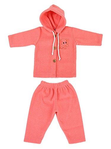 MYKID Baby Fleece Hooded Sweater Set Red