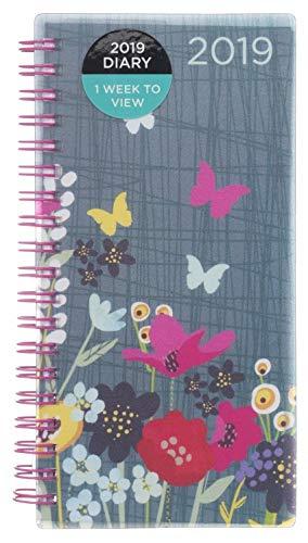Whsmith 2019Slim farfalla floreale diario settimanale