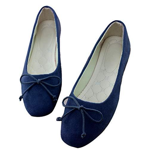 Frauen Wohnungen Square Toe Slip on Flache Schuhe Bow Ballerinas Weibliche Schuhe Damen Schuhe (Damen-geldbörse Bow)