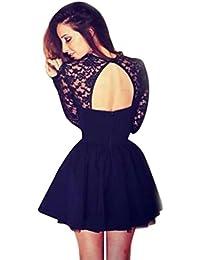 Vestidos mujer, Morwind mini vestido vestido bodycon Vestido liso evasé, estilo patinadora vestido de
