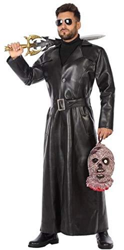 - Herren Trenchcoat Schwarz Kostüm