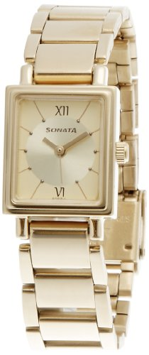 Sonata SFAL Analog Gold Dial Women's Watch - NF8080YM01 image