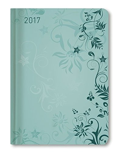 Ladytimer Turquoise Flowers 2017 - Taschenplaner / Taschenkalender A6 - Weekly - 192 Seiten