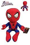 Marvel - Spiderman Peluche Posa Getta ragnatele 13'78'/35cm qualità Soft