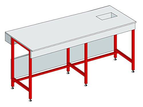EQUIP LABO 374254 Table de pesée, hauteur 900mm, L 600 mm, P 750 mm