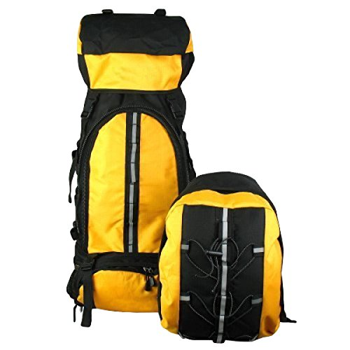 Sport Professionistico Alpinismo Zimu Borsa Zaino Esterno Sport Travel Pack Escursioni 80L,SkyBlue Yellow