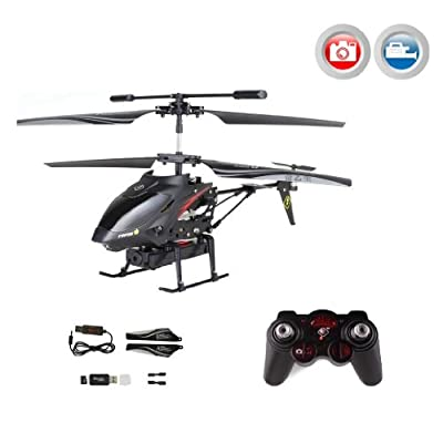 '3.5 Channel RC R/C RC Mini Helicopter Hawkspy Junior Beginner with Integrated Spy Cam Camera Video + Gyroscope Technology. Complete Set Ready To Fly.