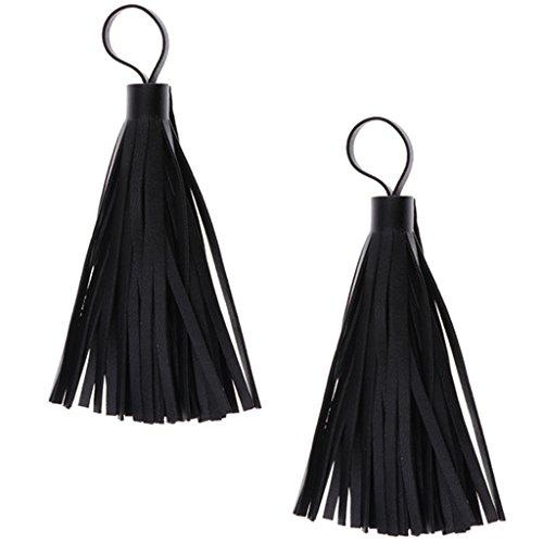Sharplace 2 Stück Leder Quasten Diy Schmuck Schlüsselanhänger Ring Taschen Charme (Leder-quaste)