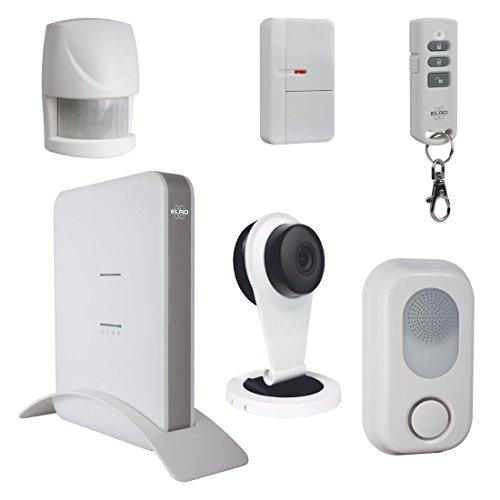 ELRO AS8000 Smart Home Alarm System - Mit 1080P HD Kamera & App Security System Smart Siren