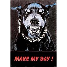 """Empire 11138 - Póster de perro con texto """"Make my day!"""" (80 x 60 cm)"""