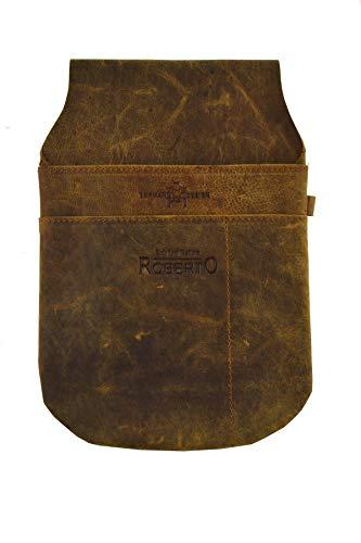 flevado Wild Leder Gastronomie Kellner Halfter Tasche Colt (connac) - Tasche Wildleder Leder Nagel