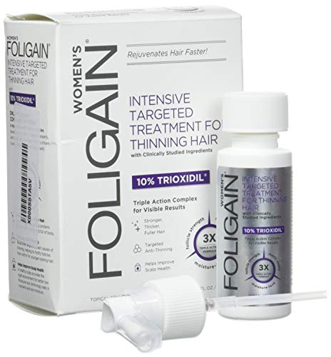 Foligain Shampoo Ricrescita Donna   Trioxidil 2%   Combatte la Calvizie e Rinforza il Cuoio Capelluto   Senza Parabeni e Solfati   Confezione Da 236ml