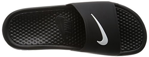 Nike Benassi Shower Slide, Chaussures de Sport Homme, 47.5 EU Noir (Black/White)