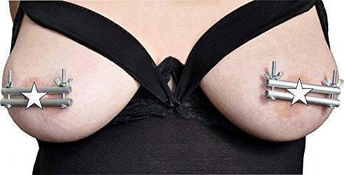 Bondage Metall Nippel Klammern Rund SM Brust Klemme BDSM Presse Nippelpranger
