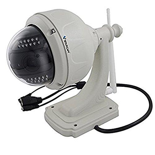 Wasserdicht IP66 Kamera HD Kabelgebundene Überwachungskamera für Außen, WiFi Wlan Netzwerkkamera mit Bewegungsmelder und Speicher