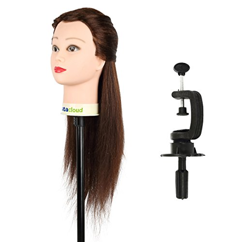 Tête d'apprentissage Tête à Coiffer Tête d'exercice Mannequin Head Cosmétologie Coiffure 60cm