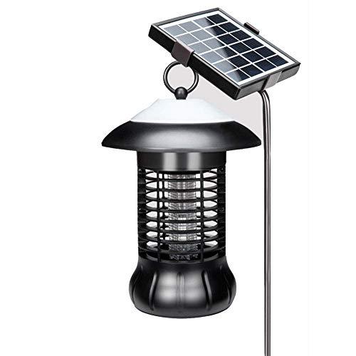 Mosquito Killer Drahtlose Solar-Moskito-Mörder-Lampe Im Freien Wasserdichtes UV-Licht Hochspannungsraster IP54 Wasserdicht Und USB Wiederaufladbare Insekt Zapper