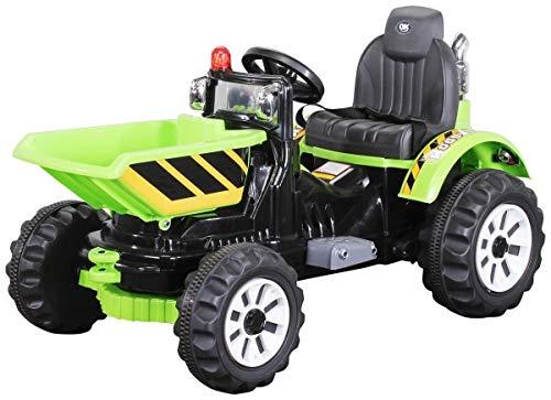 RC Auto kaufen Kinderauto Bild: Actionbikes Motors Kinder Radlader JS328C 2 x 25 Watt Motor Elektro Lader Kinderauto Kinderfahrzeug Spielzeug für Kinder Kinderspielzeug (Grün)*