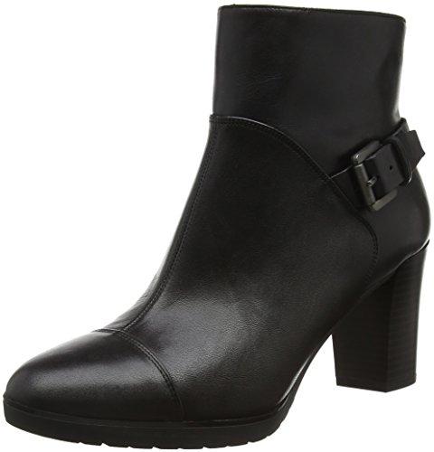 Geox Damen D Raphal Mid A Kurzschaft Stiefel Schwarz (Blackc9999)