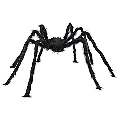 Giant Huge Black Spider Dekorationen, scary Halloween Outdoor Decor Hof Dekorationen, groß Größe realistische Fake Hairy Spider Requisiten Decor für Halloween Party