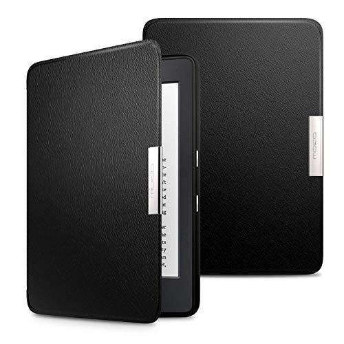 MoKo Kindle Paperwhite Hülle - Ultra Leightweight Slim Schutzhülle Smart Cover mit Auto Sleep/Wake Funktion für Alle Kindle Paperwhite (2016/2015), Schwarz