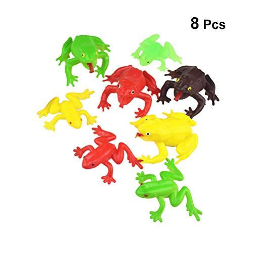 YeahiBaby - Juego de 8 Ranas de Juguete para el Día del Padre, Color al Azar, 4 tamaños L y 4 tamaños S