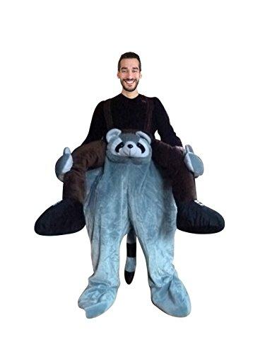 (Waschbär-Kostüm, F107, Gr M-L, Wasch-bär Kostüme Wasch-bären Kostüme Faschingskostüm, Fasching Karneval, Fasnachts-Kostüme Tier-Kostüme, Faschings-Geschenk Erwachsene, Huckepack-kostüm, Männer-Kostüm)