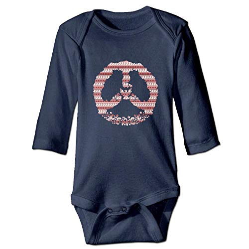 WBinHua Bodysuits Baby Body, Bertha Merry Christmas Peace Sign Baby Unisex Long Sleeve Onesies Bodysuits - Sammlung Bodysuit
