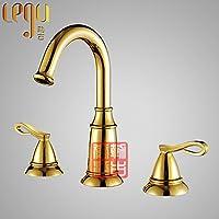 MEICHEN-Design creativo cucina bagno rubinetto lavaboOttone cromato e biondo chiaro