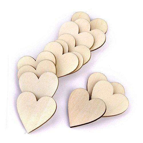 Jooks madera corazones Plain madera forma corazón