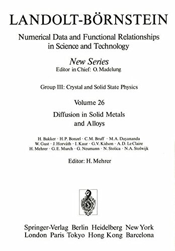 Diffusion in Solid Metals and Alloys / Diffusion in festen Metallen und Legierungen (Landolt-Börnstein: Numerical Data and Functional Relationships in Science and Technology - New Series, Band 26)