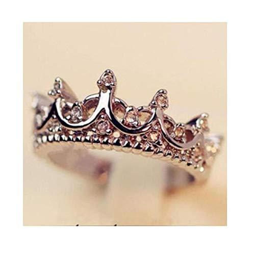 Gamloious Princess Silber Königin-Kronen-Ring-Größe 7 8 9