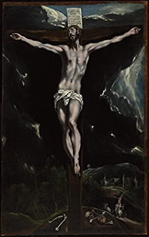 """Christ On The Cross - El Greco - Canvas Prints - 28"""" by 44"""" - Unframed"""