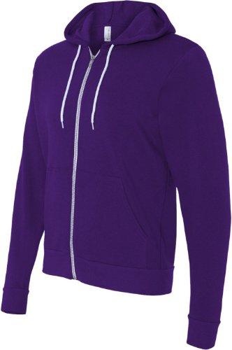 Bella+Canvas: Unisex Poly-Cotton Full Zip Hoodie 3739 Team Purple