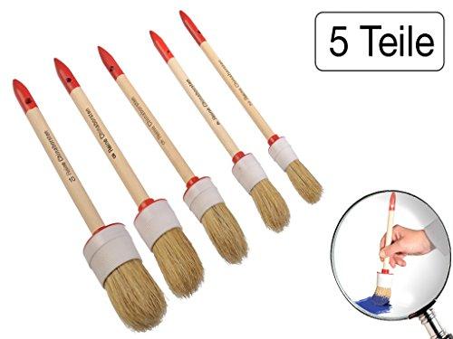 5-teiliges Pinsel-Set Rund Größe 2 bis 10