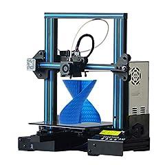Idea Regalo - GEEETECH A10 Stampante 3D Prusa I3 Assemblaggio facile e veloce DIY Kit con area di stampa 220×220×260mm, Ripresa del lavoro in caso di blackout elettrico, scheda madre GT2560 OPEN SOURCE.