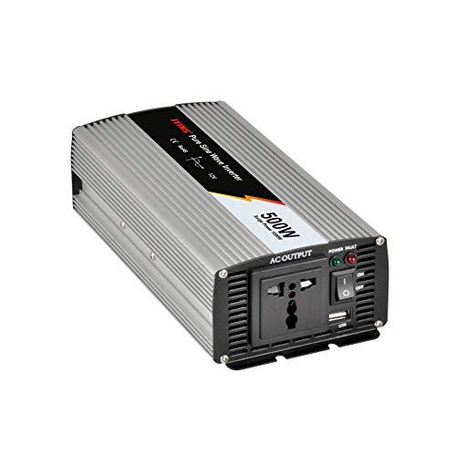 Especificación Potencia nominal: 500W Potencia máxima: 1000W Onda de salida: onda sinusoidal pura Voltaje de entrada de CC: 12/24 V Voltaje de salida de CA: 220V Frecuencia de salida de CA: 50 Hz Eficiencia: 88% tamaño ? 250 * 106 * 63 mm Uso óptimo ...