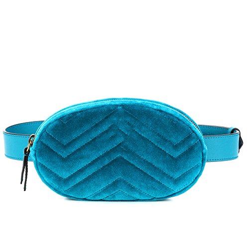 2018 Damen Geldbörse Mini Handy Tasche Stern mit dem gleichen Absatz samt Brustbeutel samt ovalen Taschen umhängetasche damen klein handtasche(Blau),SkyBlue(Velvet)-S