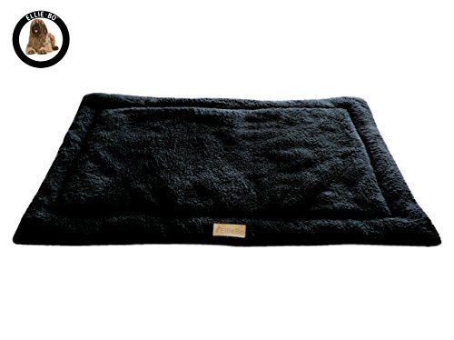 Ellie-Bo-Sherpa-Fleece-Mat-Bed-in-Black-Fits-Ellie-Bo-Extra-Large-42-Inch-Cages-and-Crates