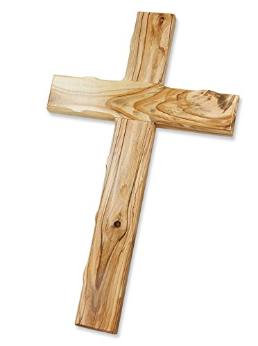 Motivationsgeschenke Holzkreuz Olivenholz aus Jerusalem 50 cm Wandkreuz Kruzifix Kreuz