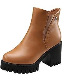 d35fc066c193f POLP Botas Tacon Zapato Mujer Tacon Ancho Zapatos señora Invierno Botas de Vestir  Botines Mujer Tacon
