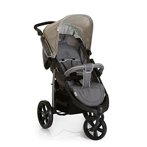 Hauck Viper SLX - silla de paseo de 3 ruedas, respaldo reclinable, plegado compacto, para recien nacidos y apto hasta 25 kg, manillar regulable, capota XL, Smoke Grey (gris)