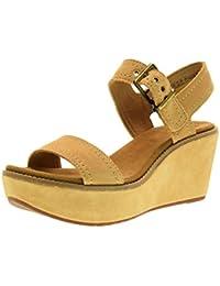 28f1d14b89d Clarks Chaussures Femmes Sandales compensées en 26.125.247 Aisley Orchid  Sable